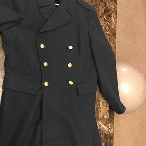Navy blue trench coat
